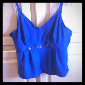 🌟 2 for $30.  Royal blue tankini top.  Size 16.